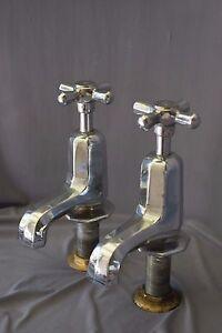 Image Is Loading Chrome Bath Taps Art Deco Antique Bathroom