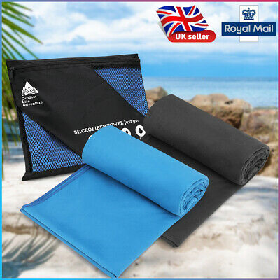2pcs 40x80cm Light Microfibre Towel for Sports Gym Beach Swimming Yoga with Bag