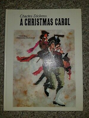 Charles Dickens A Christmas Carol Pop Up Hallmark Book Brad Holland Illustrated | eBay