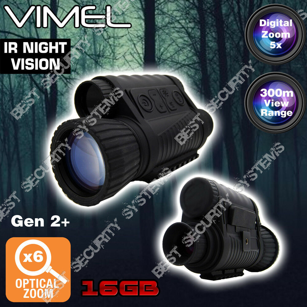 Night Vision Monocular Digital Camera 16GB Hunting Binoculars Security Recorde