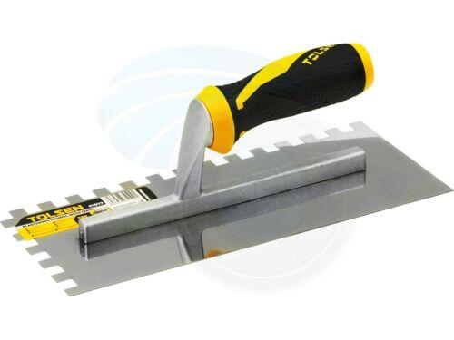 Wall Floor Tile Plastering Trowel Square Notch 3//8 Teeth Soft Handle