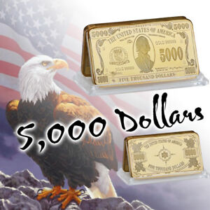 Image Is Loading WR US 5000 Dollar Bill America Novelty Money