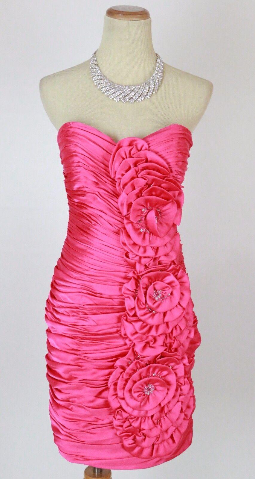 Terani Fuchsia Size 6 Short Gown Prom Formal Evening Dress New  Cruise Club