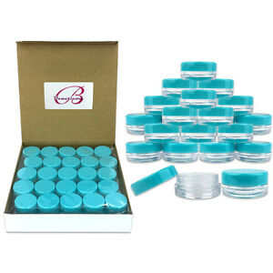 200-Pieces-3-Gram-3ML-Plastic-Makeup-Cosmetic-Lotion-Cream-Sample-Jar-Containers