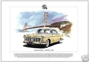 American Classics - CHRYSLER C-300 - Fine Art Print - 331 FirePower Hemi V8 Car
