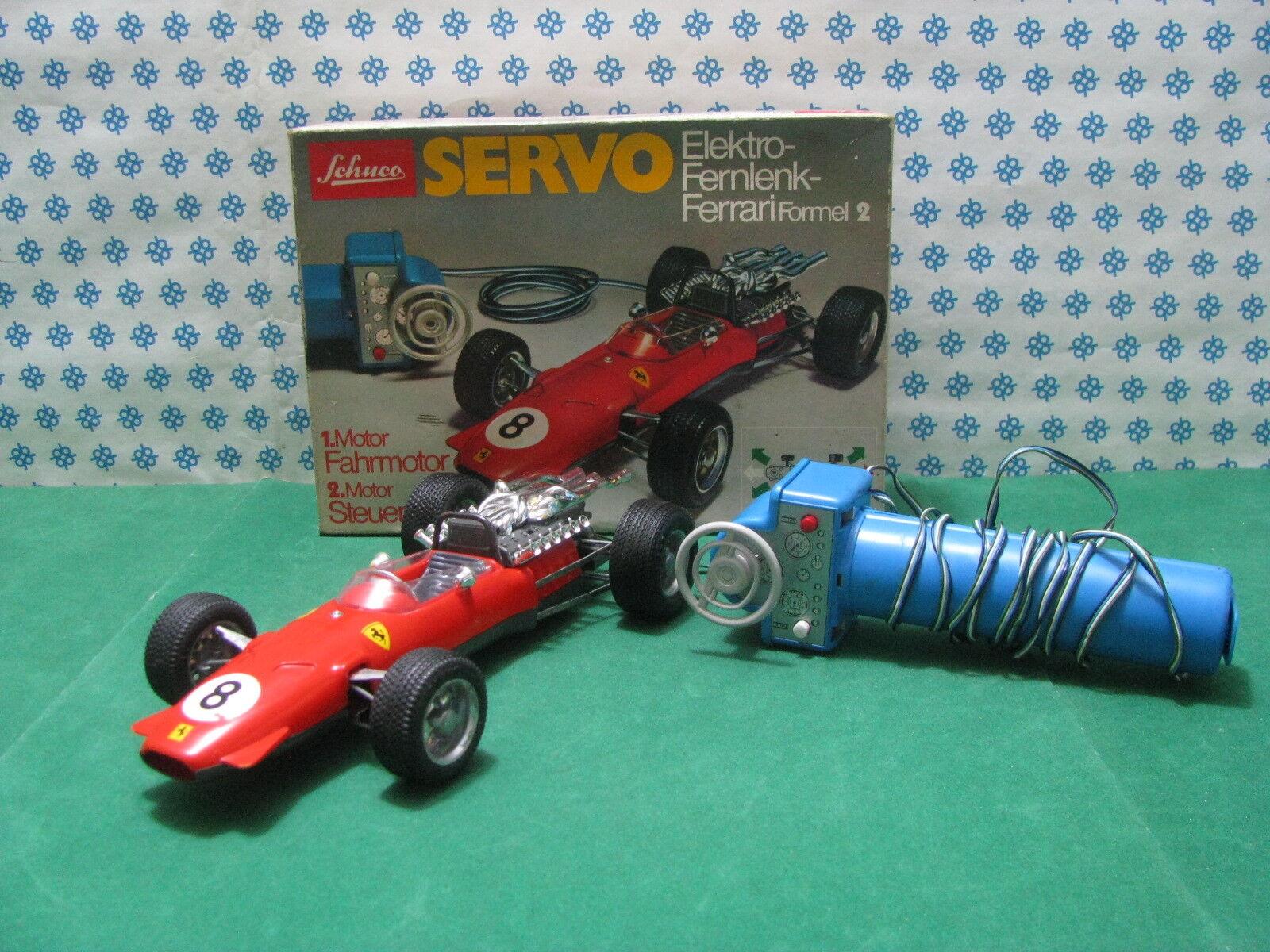 RARE  Vintage SCHUCO SERVO  - FERRARI  Formel 2  - Elektro-Fernlenk 5312