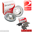VW Caddy Pick-up 1.9 D Pickup 63 Front Brake Pads Discs 256mm Vented