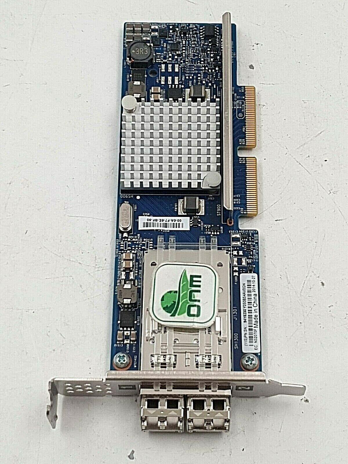 IBM 94Y5230 Broadcom Dual Port 10Gb SFP Exlom Adapter network card