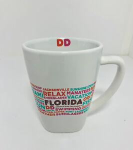 Dunkin Donuts FLORIDA Mug Destination Series List of Florida Cities 2016  EUC