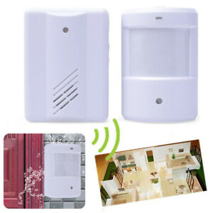 200m Battery Operated Wireless Motion Pir Detector Chime