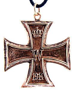 N-17-Cruz-de-Hierro-bronce-colgante-1914-amp-1813-en-ambos-lados-Portable