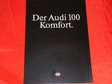 """AUDI 100 C3 """"Komfort"""" Sondermodell Prospekt von 1990"""
