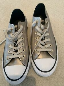 Bronze Leather Converse All Star Size 6