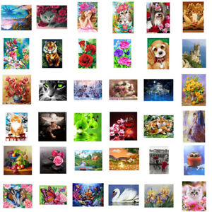 5D-DIY-Diamond-Painting-Flower-Animals-Embroidery-Cross-Crafts-Stitch-Art-Decor