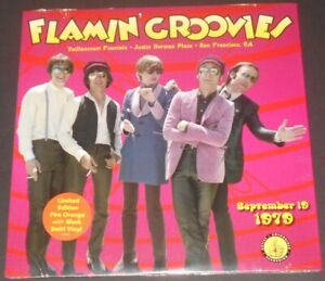 FLAMIN-039-GROOVIES-vaillancourt-fountain-LP-new-FIRE-ORANGE-W-BLACK-SWIRLS-VINYL
