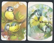#930.617 Blank Back Swap Cards -MINT pair- Birds, Blue Tit