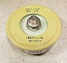 Japan Rf 80 200pf 15kv Ceramic Doorknob Capacitor Pull