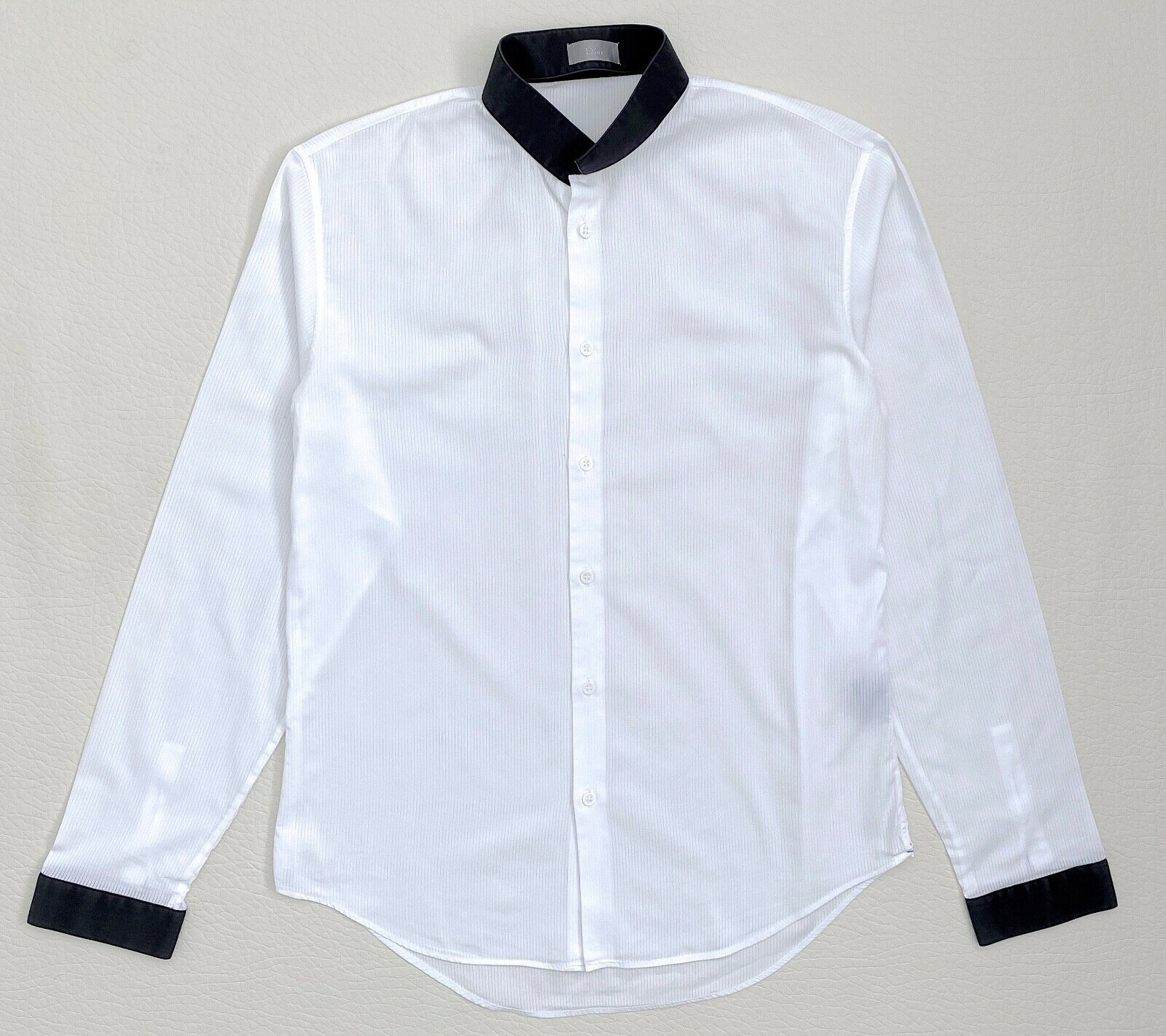 Dior Homme by Hedi Slimane white shirt-inverted collar Sz.41 - 16