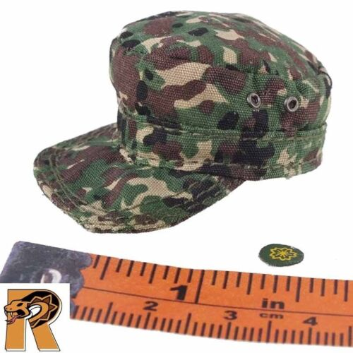 Camo Hat w// Patch Dragon Action Figures 1//6 Scale JGSDF Disaster Relief