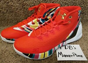 b58b0b43a8e0 2017 Under Armour UA Steph Curry 3 Chinese New Year CNY 1269279-984 ...