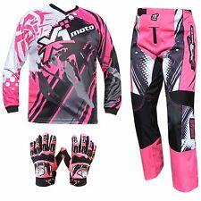 PINK ADULT MX JERSEY PANTS GLOVES Dirt Bike Gear Off road Motocross BMX MOTOX