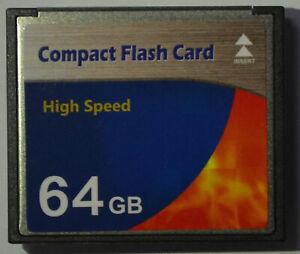 Scheda di memoria 64 GB Compact Flash HIGH SPEED Scheda CF per Digital Camera