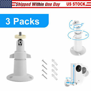 3 pcs Security Wall Holder Mount Adjustable Outdoor//Indoor for Arlo Pro Camera