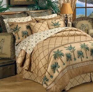 Kona Palm Tree 4 Pc Full Size Comforter Bedding Set