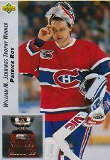 92-93 1992-93 Upper Deck Patrick Roy Jennings Winner #440-Montreal Canadiens