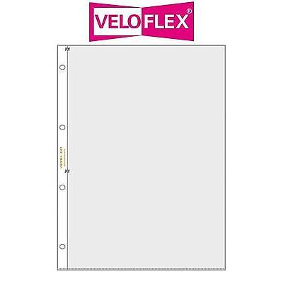 10 Veloflex A4 Sammelhüllen Prospekthüllen Kartenhüllen 140 my 2x A5 215x150 mm