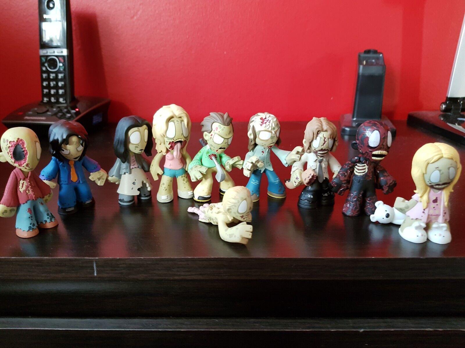 The Walking Dead Funko Mystery Mini Series Job Lot Lot Lot 10 Zombie Walker Figures 162614