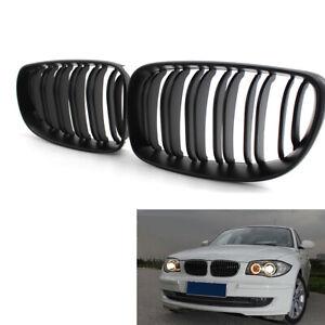 Griglie-di-ricambio-griglia-anteriore-nera-opaca-per-BMW-Serie-1-E87-08-11