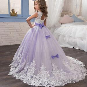 14a022d808f29a Détails sur Enfant fille princesse Tutu Dress Pageant Tutu Tulle robe robe  de mariée parti
