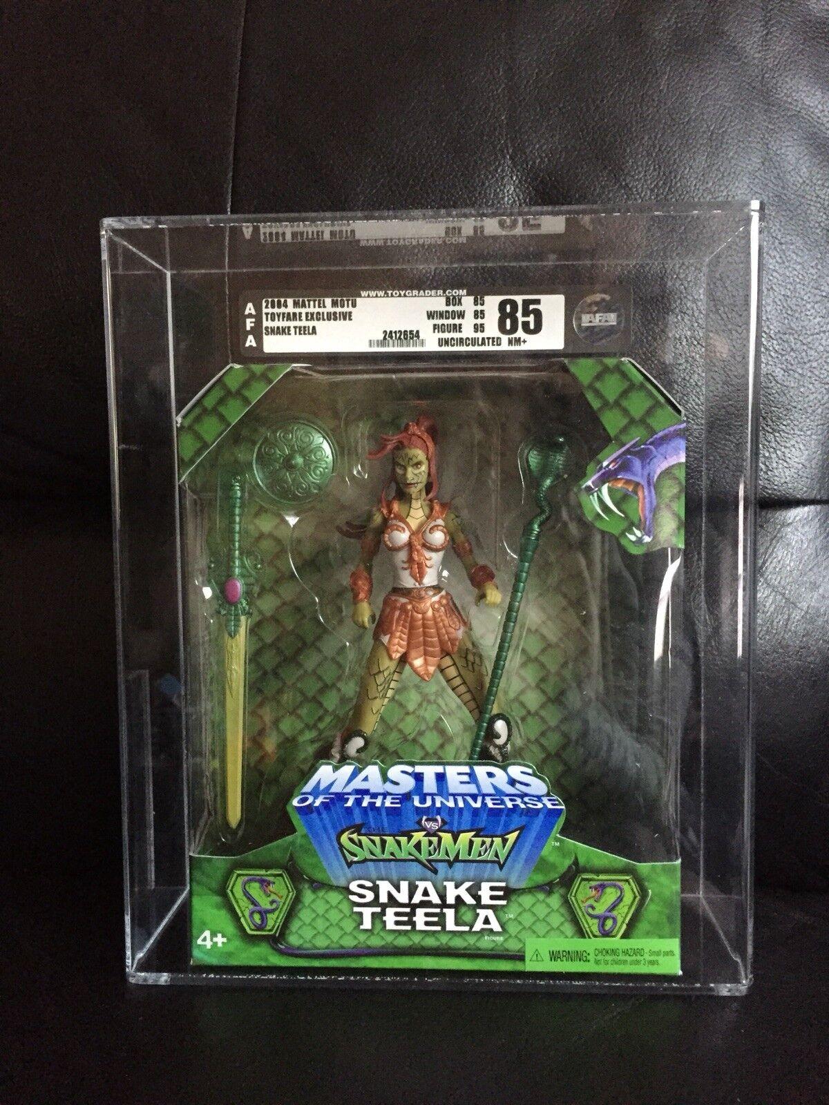 Master of the Universe VS Snakemen Snake Teela 2003 Graded Wirkung Figure BNIB
