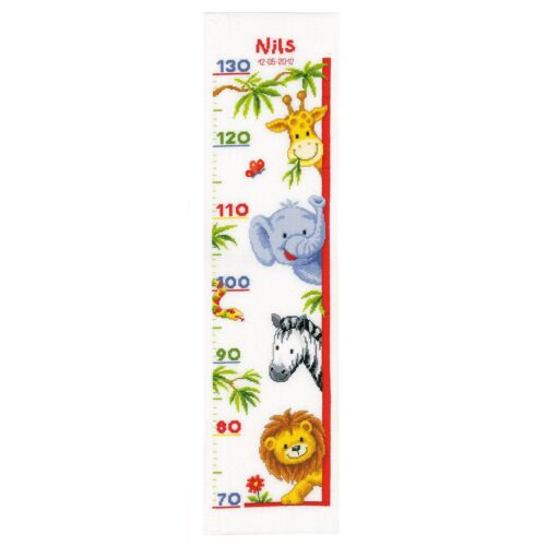 Counted Cross Stitch Kit Vervaco Height Chart PN-0011913 Zoo Animals