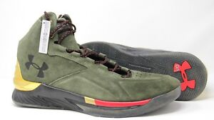 e6e90f2bb80a Under Armour UA Curry Lux 1296617-330 Basketball Green Gold Shoes ...