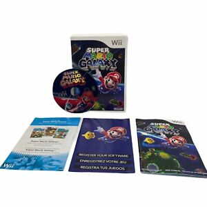 Super Mario Galaxy (Nintendo Wii, 2007) CIB Complete Game Case Manual Inserts!