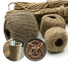 1-4mm 20m Long Twisted Craft Linen Rope DIY Natural Burlap Jute Twine Hemp Cord