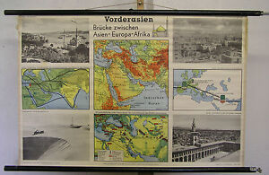 Map Of Asia 1960.Details About Schulwandkarte Wall Map Turkey Bosporus Asia Minor Map 100x66c Map Card 1960