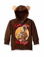 Curious George Boys' Character Hoodie Brown 3t Free Shipping