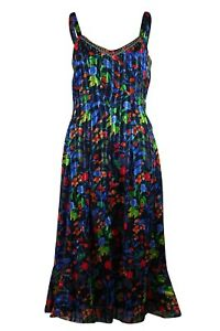 Ex-Store-Womens-Chiffon-Embellished-Summer-Sleeveless-Strappy-Dress-8-20