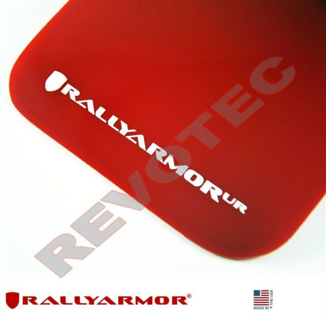 RALLY ARMOR UR RED MUD FLAPS FOR 2005-2009 SUBARU LEGACY OUTBACK w// WHITE LOGO