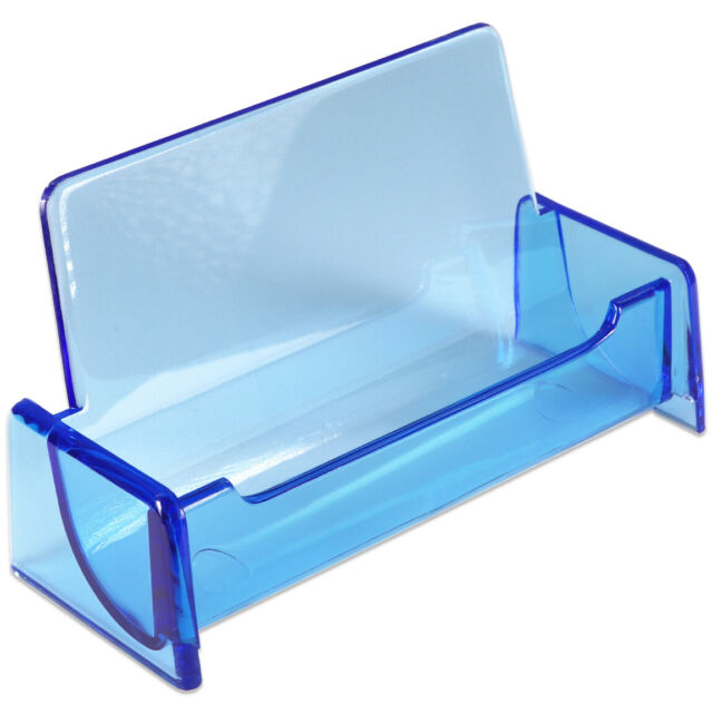 1pc HQ Acrylic Plastic Business Name Card Holder Display Stand (CLEAR BLUE)