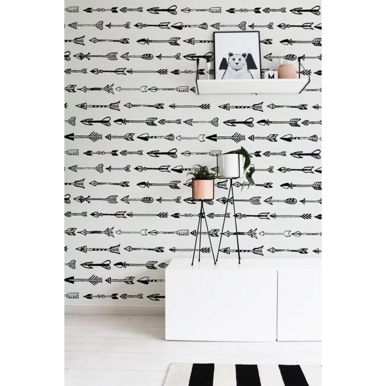 Handdrawn Arrows Non-Woven wallpaper Simple wall mural Geometric Home decor