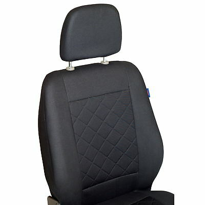 Octavia Vorne Sitzbez/üge Farbe Premium Schwarz gepresstes Karomuster f/ür Fahrer und Beifahrer