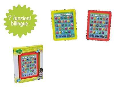 WhyTech Fluo Primo Tablet Educativo bambini Evolution Bilingue giocoscuolaregalo