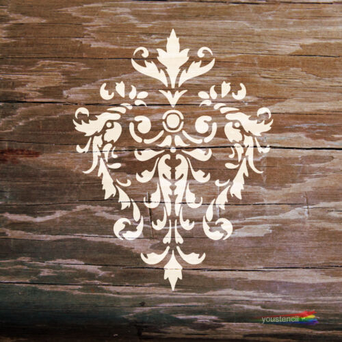 Damask  Stencil   #2 For Art ST19 Walls and Furniture