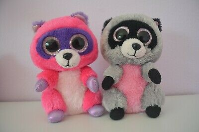 2014 Ty BEANIE BOO Rocco the Racoon Backpack Clip Plush Toy ~ NWT!