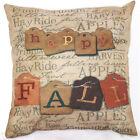 NEW Home Decor Work Cotton Linen Happy Fall Cushion Cover LauR Pillow Sofa 45cm/