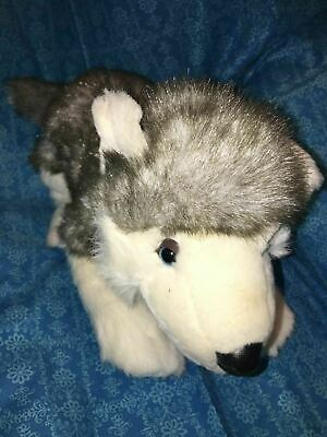 "Build a Bear Workshop HUSKY 14/"" Plush Stuffed Animal Toy BABW"
